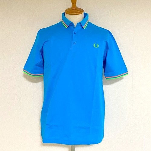 FRED PERRY MADE IN JAPAN PIQUE SHIRT AQUA MARINE
