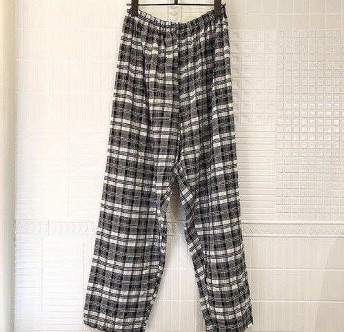 Vintage plaid easy pants
