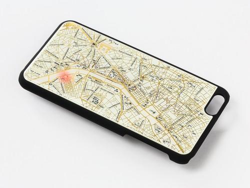 FLASH Paris 回路地図 iPhone6/6s Plus ケース 白 【東京回路線図ピンズをプレゼント】