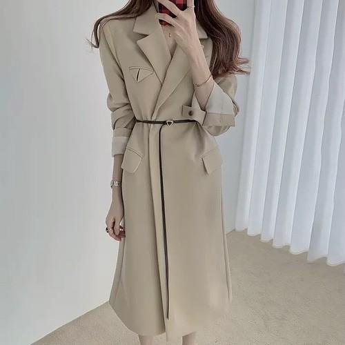 lady long coat 2color