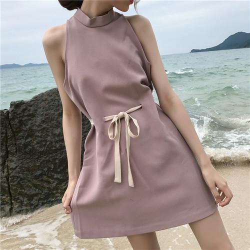 bow waist retro dress 1947