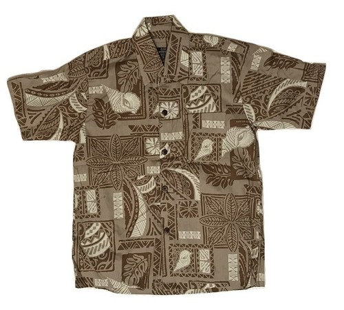 Aloha Shirt Brown【Kids】