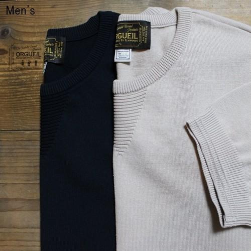 ORGUEIL 半袖リブニットTシャツ Knit Tshirt  OR-4100 (NAVY)