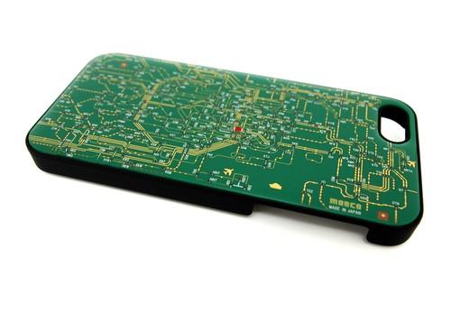 東京回路線図 iphone5/5s/5seケース 緑【LEDは光りません】【東京回路線図A5クリアファイルをプレゼント】