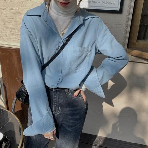 ワンポケットルーズブルーシャツ #RD7545