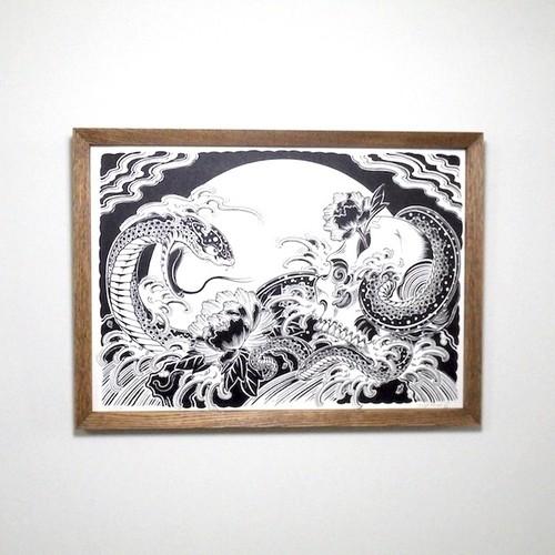 オリジナルフレームセット 髑髏と蛇