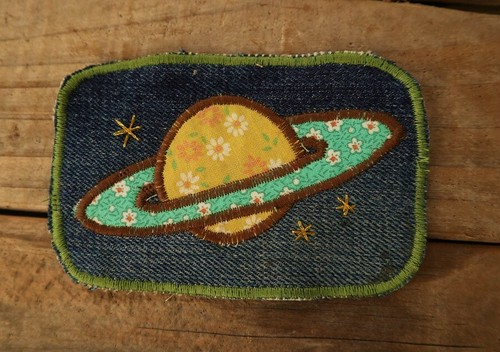 Hand made Patch  (土星)