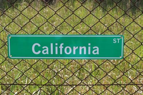 SIGN california st (カリフォルニア・看板・標識・USA)