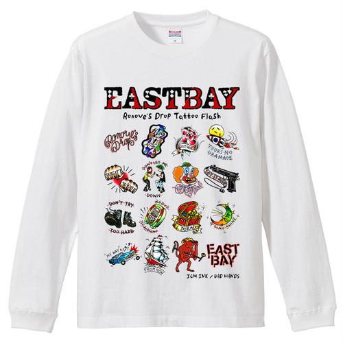 【送料無料】Ronove's Drop Tattoo Flash 長袖Tシャツ / 白