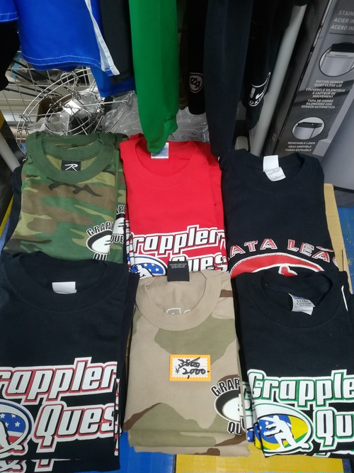 グラップラーズクエスト Grapplers Quest & MAXJJ コラボ Tシャツ Collaboration T-shirt bjj ブラジリアン柔術 mma 総合格闘技 男女兼用