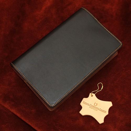【即納】システム手帳バイブルサイズ 国産牛革ブラック&チョコ/Made in Japan Bateisha【送料無料】