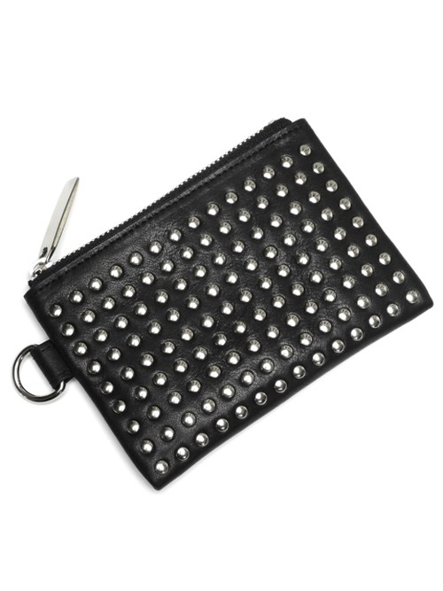 Leather wide coin case 'all-studs' コインケース 156AWA47