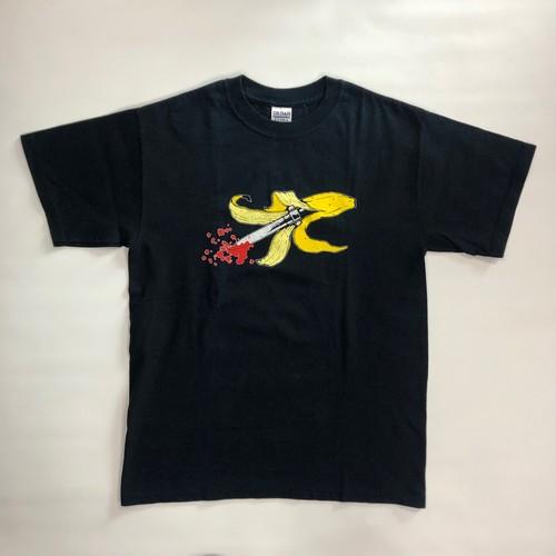 90's GILDAN バナナ×ソードプリント 剣 T-Shirts(M)