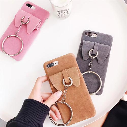 ORIGINAL 蝶結び iPhone8カバー 可愛い iphone7plus ジャケットケース 頑丈 アイフォン6s プラス 保護ケース リング チェーン付き