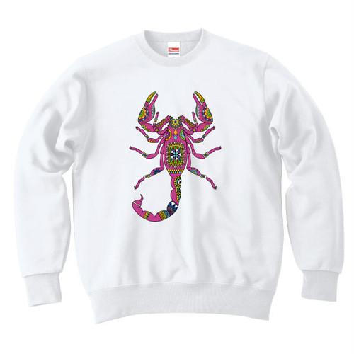 [スウェット] Ethnic scorpion / white