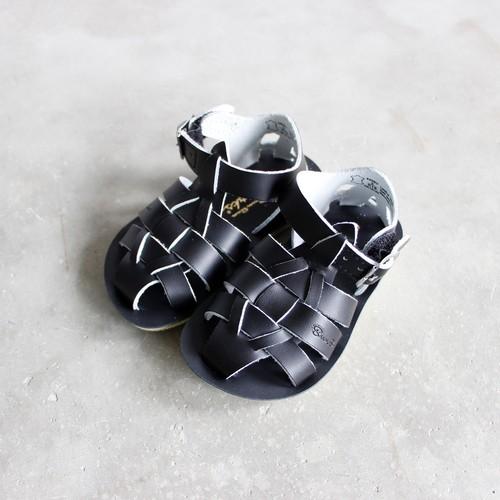 《SALTWATER SANDALS》Shark / black / 16.3-19.2cm