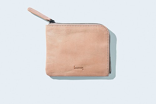 hmny コンパクト財布 NT(Natural Tanned-leather)