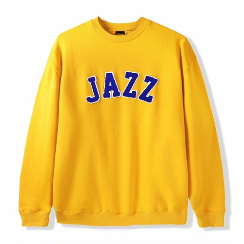 BUTTER GOODS 【JAZZ APPLIQUE CREWNECK】