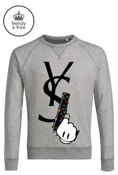 Trendy & Rare Sweatshirt  YSGUN Heather Grey