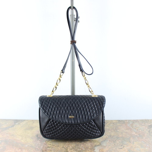 .OLD BALLY QUILTING LEATHER CHAIN SHOULDER BAG MADE IN ITALY/オールドバリーキルティングレザーチェーンショルダーバッグ 2000000049434
