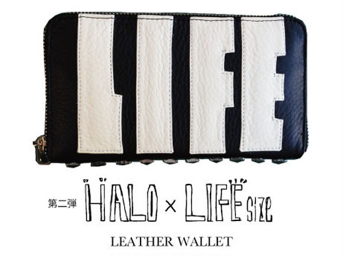 再入荷【HALO × LIFEsize】LEATHER WALLET