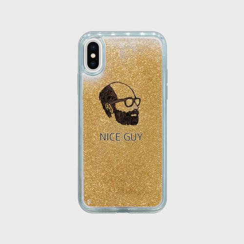 ゴールドラメ入りiPhoneケース「NICE GUY」