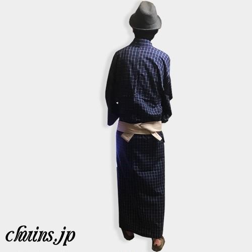 【着物&浴衣】メンズネイビーチェック