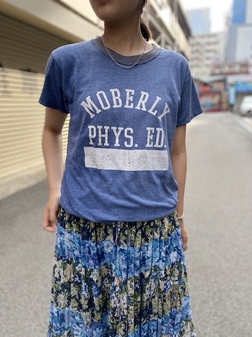 college tee blue