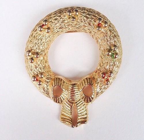 """""""Gerrys"""" wreath brooch[b-117]"""