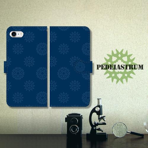 ペディアストラム(クンショウモ) ネイビー 手帳型スマホケース iPhone/Android