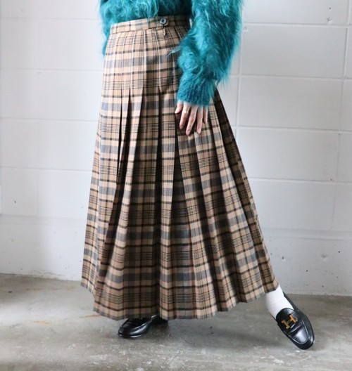PENDLETON dead stock check skirt