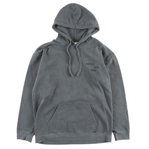 One Family Co. / Garment Dyed Pullover Hoodie / Modern Love Story / Pepper