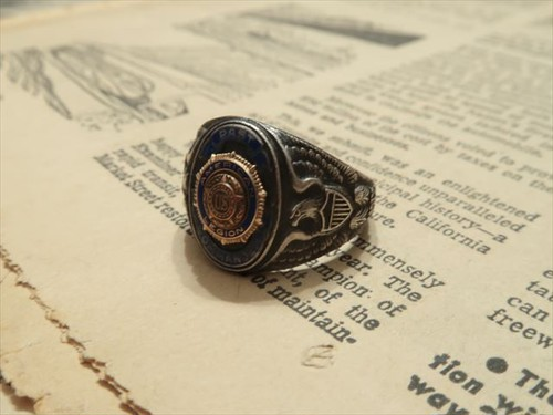 "MILITARY RING  "" PAST AMERICAN US LEGION COMMANDER """