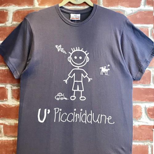 Item089T イタリア シチリア島から来た ファミリーでお揃いのTシャツ Picciridune (可愛い男の子) 大人男性用
