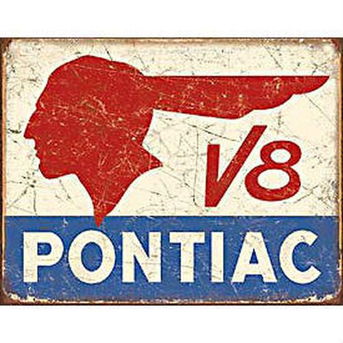 TinSign PONTIAC V8 MS1907
