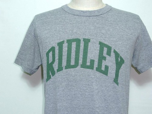 1980's RUSSELL アーチプリントTシャツ 霜降りグレー 表記(M) ラッセル