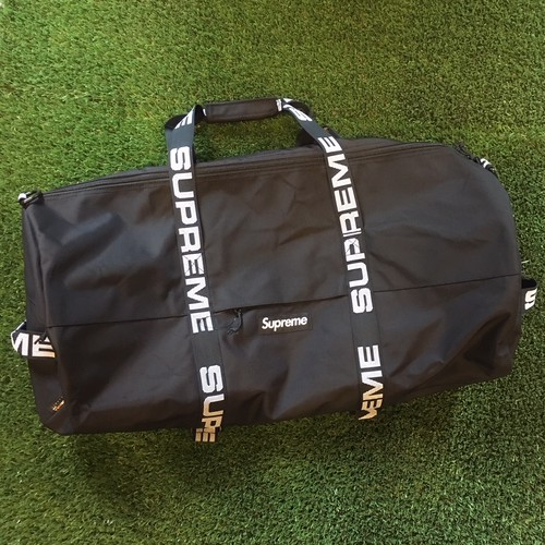 【SUPREME】 -シュプリーム-SS18 CORDURA RIP STOP NYLON LARGE DUFFLE BAG BLACK
