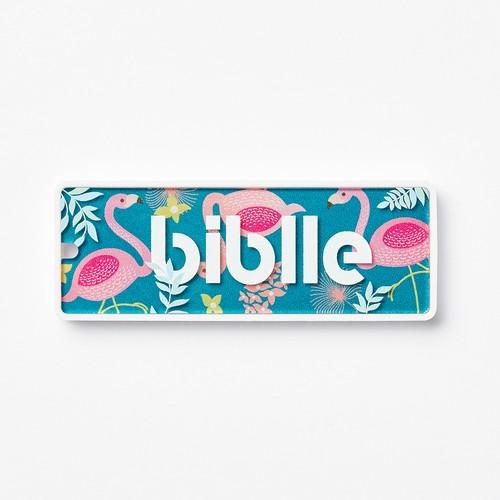 見守りタグ biblle(ビブル)/フラミンゴ×ホワイト