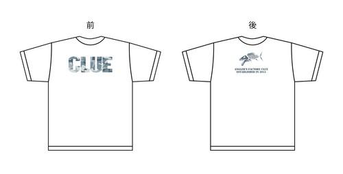 CLUEカモロゴTシャツ ホワイト/グレーカモ
