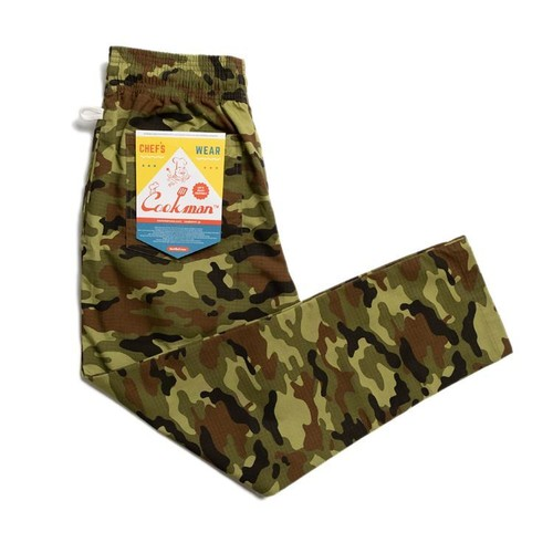 COOKMAN CHEF PANTS「RIPSTOP」/ CAMO GREEN (WOODLAND)