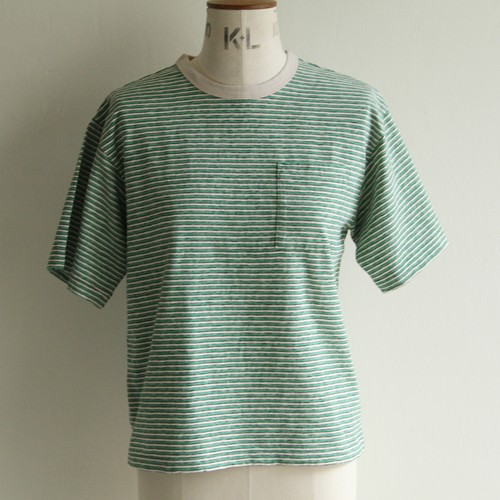 PHEENY【 womens 】 multi stripe short sleeve tee