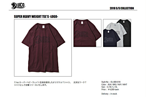 BLUCO / SUPER HEAVY WEIGHT TEE'S -LOGO- (OL-800-018)