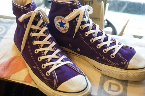 "early 80's CONVERSE ALL STAR HI purple ""MADE IN U.S.A."""