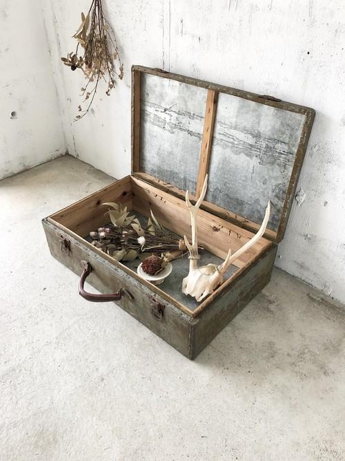 アルミ×古材のトランク[古家具]