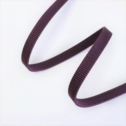【帯締め】渡敬 正絹三分紐 遠州無地 深紫色