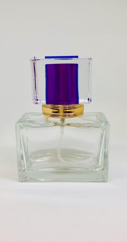 【スプレー容器】30ml 紫色 水晶 玻璃 香水瓶 ゴールド