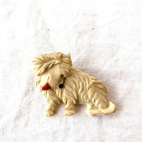 1940's French Dog Broach #02 -Ivory-