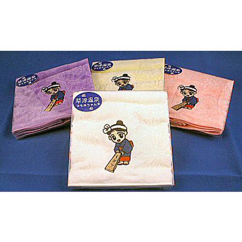 ゆもみちゃん刺繍ハンカチ