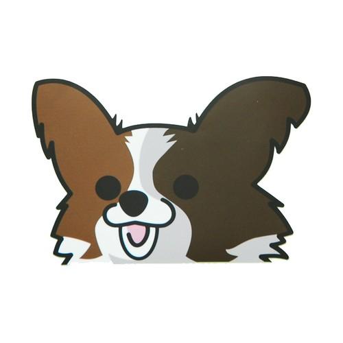 パピヨン(大)  犬ステッカー
