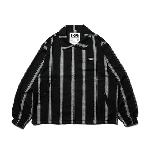 Tightbooth CHECK FULL ZIP SHIRT Black Stripe L タイトブース
